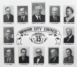 Brandon City Council - 1956-1957
