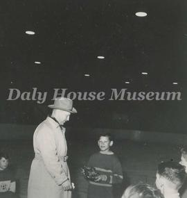 Elementary School Hockey League Player and Mayor Jimmy Creighton