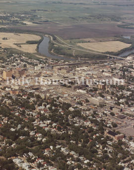 Aerial View of Downtown Brandon