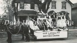 "Coronation Day Parade - ""Our Loyalty to the British Crown"" Float"