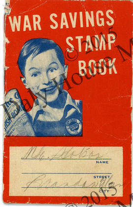 War Savings Stamp Book