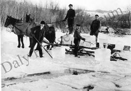 Ice harvest on Minnedosa River