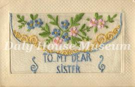 """To My Dear Sister"" Postard"