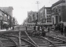Laying of Street Railway Tracks on 10th Street and Rosser Avenue