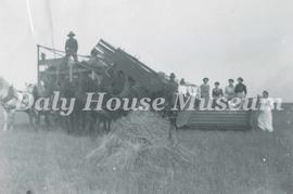 R.M. of Elton Manitoba Threshing Scene