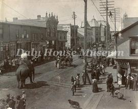 Circus Parade on Rosser Avenue