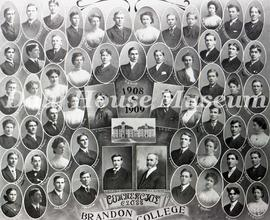 Brandon College Commercial Class 1908-1909