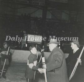 Park School Hockey Team Member and Mayor Jimmy Creighton