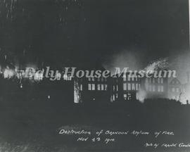Destruction of Brandon Asylum by Fire
