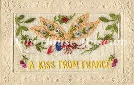 """A Kiss from France"" Postcard"