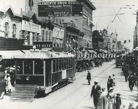 Street Cars on Rosser Avenue