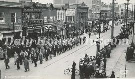 Coronation Day - Veterans Marching Down Rosser Avenue