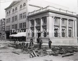 Laying Street Car Track at 10th & Rosser