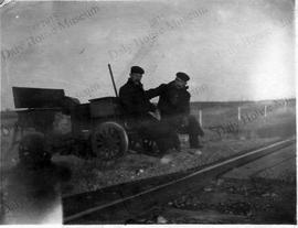 Section Men on Railway with Jigger