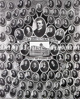 Manitoba Agricultural College, Faculty and Students, 1906