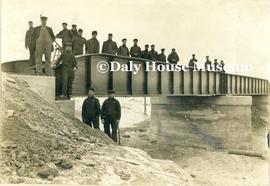 Construction of Iron Bridge over Assiniboine River