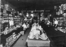 Leopold Meltzer's general store, Snowflake, Manitoba 1