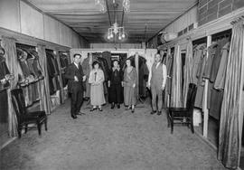 Louis Gutkin in his store on Selkirk Ave. with his staff 1