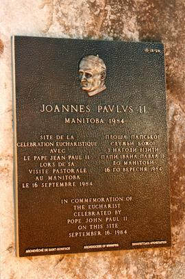 Pope John Paul II plaque