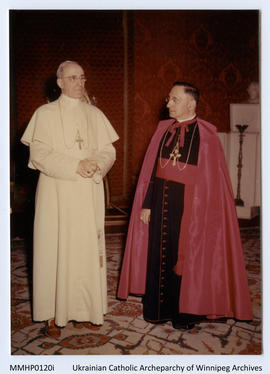 Pope Pius XII with Papal Nuncio for Canada