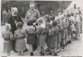 Reverend Maxim Hermaniuk with Children of PLAST