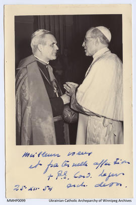 Pope Pius XII and His Eminence Paul-Emile Cardinal Léger