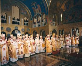 Hierarchs inside St. Sophia Ukrainian Catholic Church