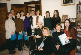Metr. Emeritus Hermaniuk with Carollers
