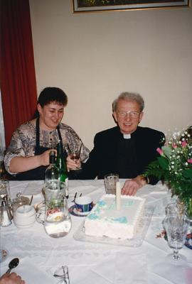 Rachel and Very Rev. E. Rudachek at Metr. Bzdel's 3rd Anniversary of Ordination