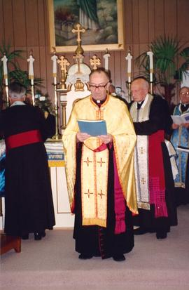 Elevation to mitrat: Reverend Father Jaroslaw Holowaty and Reverend Father Wolodymyr Panchyshyn, Grandview, Manitoba
