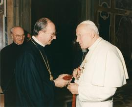 Metr. Michael Bzdel with Pope