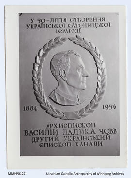Commemorative Plaque: Fiftieth Anniversary of UC Hierarchy, Bishop Ladyka
