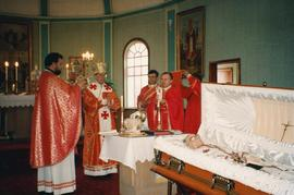 Father Izyk's funeral with clergy