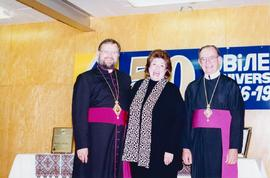 Metr. Bzdel, Bishop Soroka, with Mayor Susan Thompson