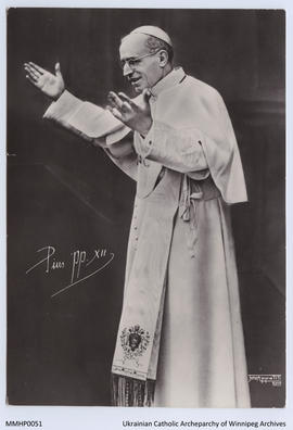Photo Postcard of Pope Pius XII