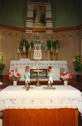 Interior of Winnipegosis Church