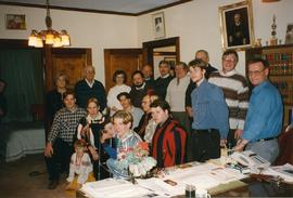 Metr. Emeritus Maxim Hermaniuk with Carollers, Chancery