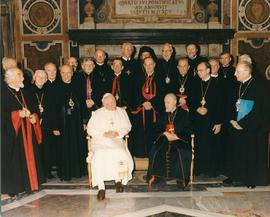 Pope John Paul II with Ukrainian Catholic Bishops