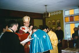 Metr. Michael Bzdel and Fr. Taras Kraychuk
