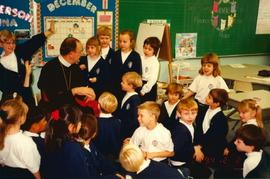 Metr. Michael Bzdel visits Immaculate Heart of Mary School