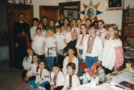 Metr. Michael Bzdel with Carollers