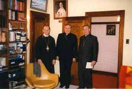 Metr. Michael Bzdel with unidentified clergy and Archb. Antoine Hacault