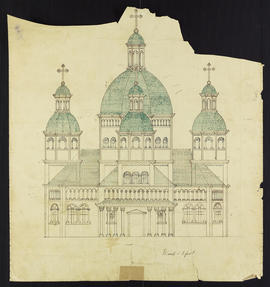 Ukrainian Catholic Church of the Holy Resurrection Sketch of Front View